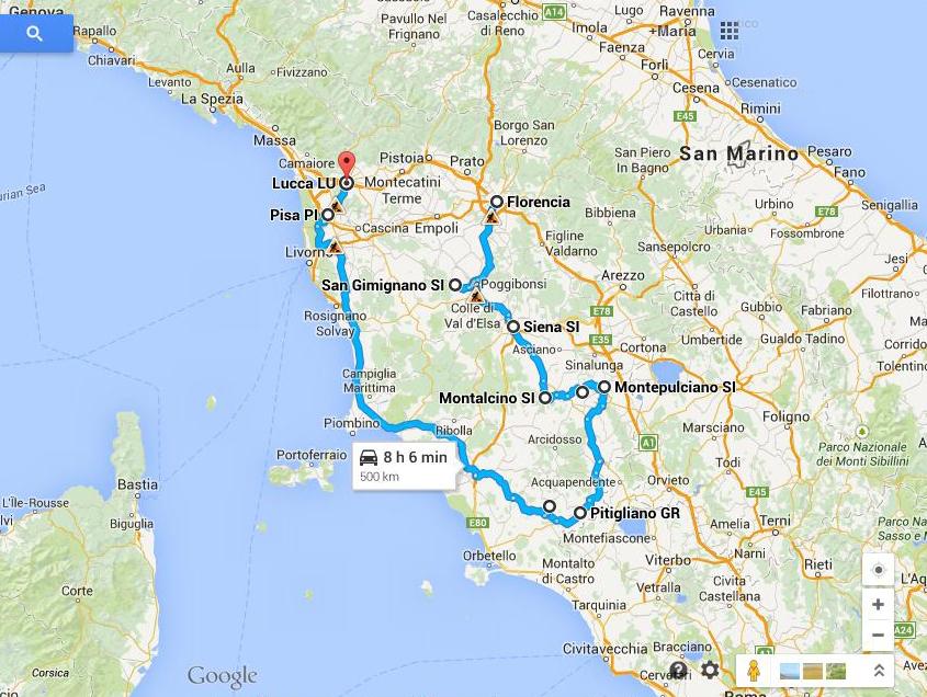 datos importantes sobre La Toscana